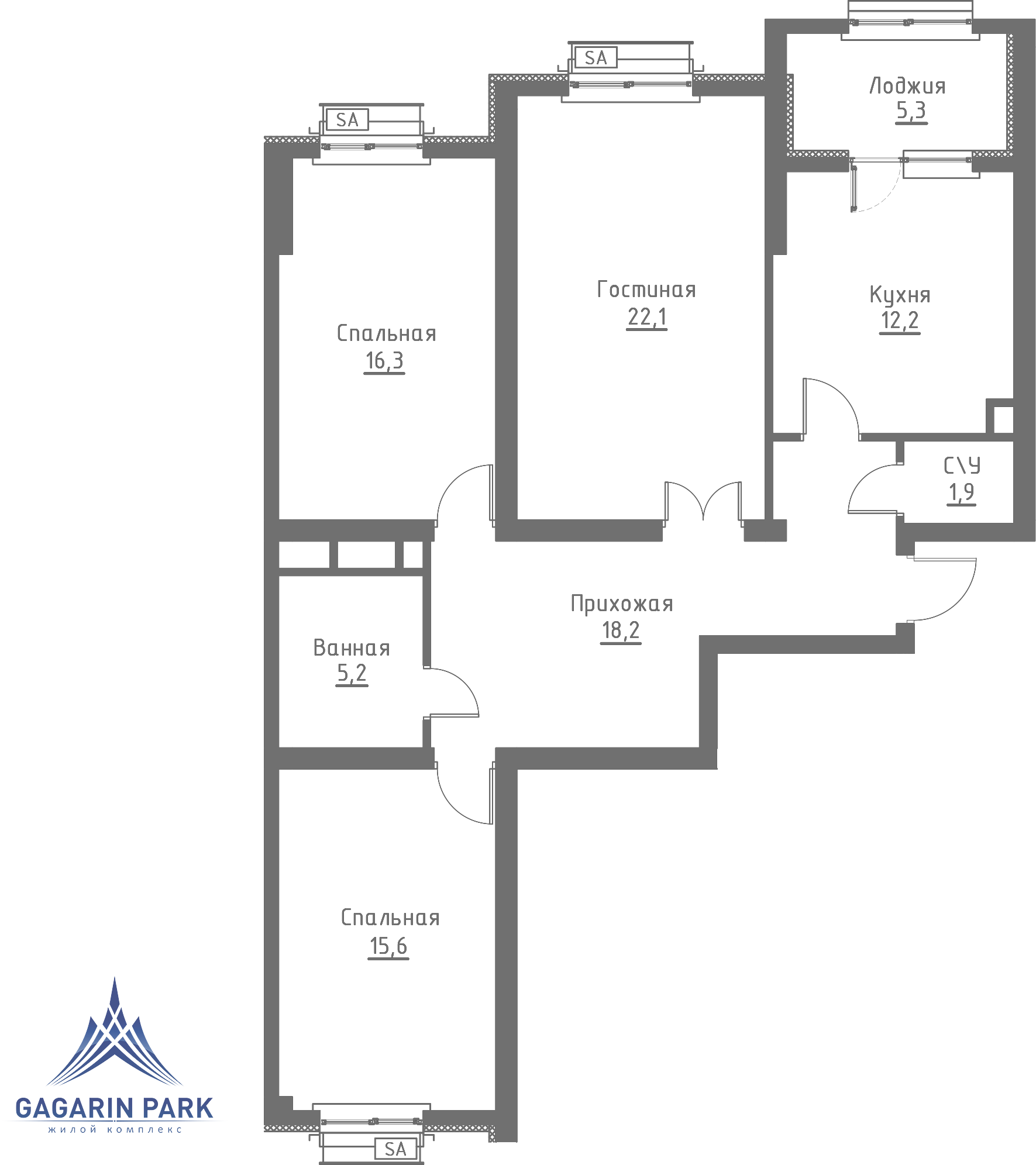 1 очередь, Квартира 100