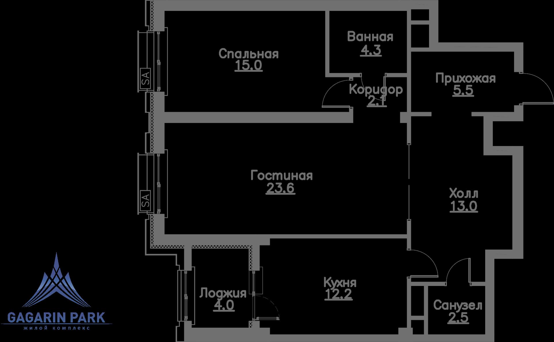 1 очередь, Квартира 55