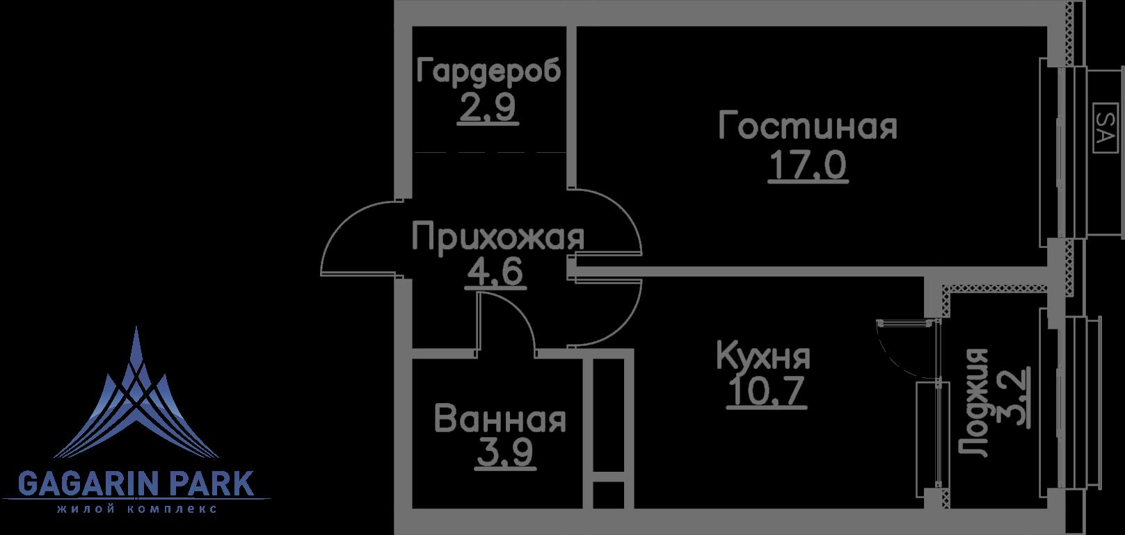 3 очередь, блок A, Квартира 55