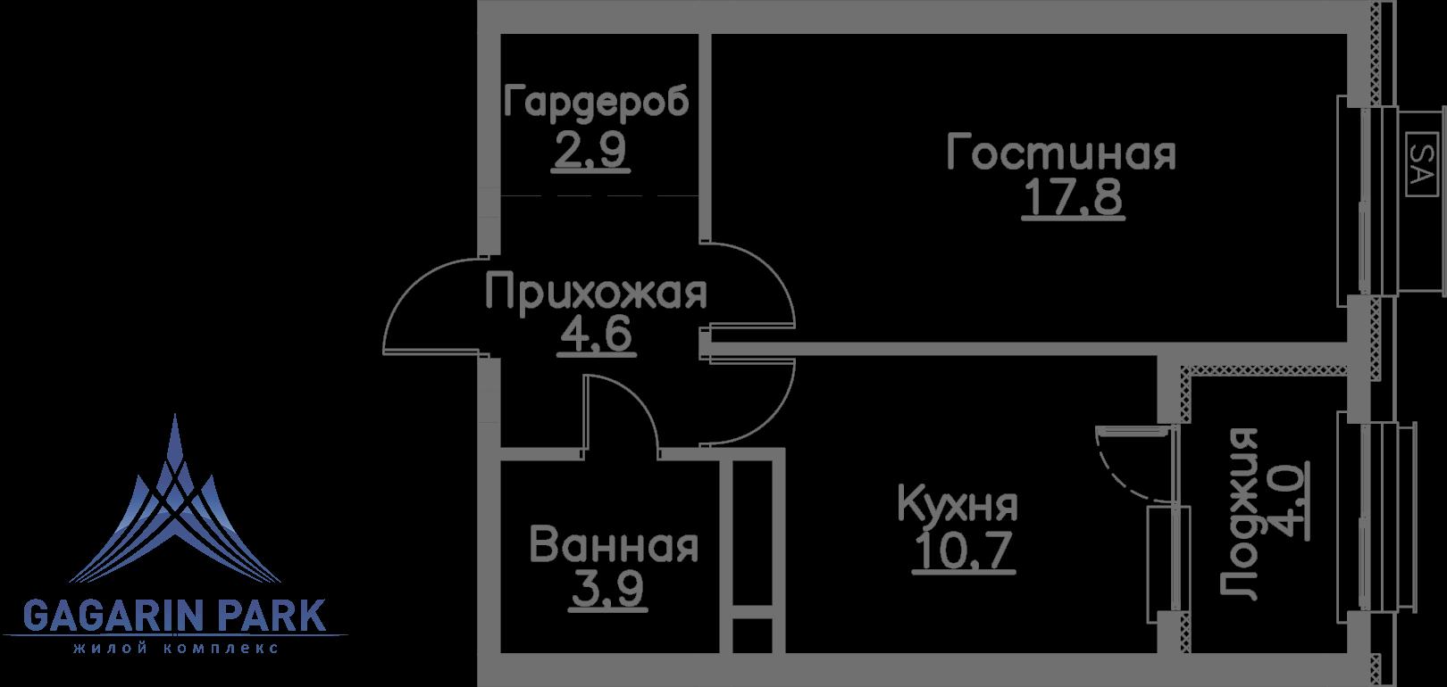 3 очередь, блок A, Квартира 3