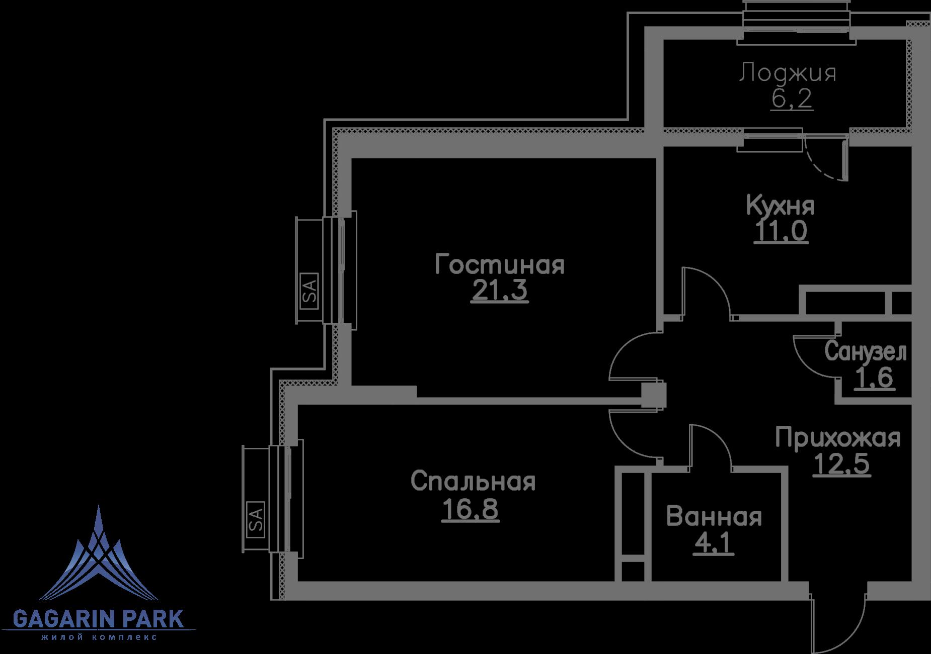 3 очередь, блок A, Квартира 47