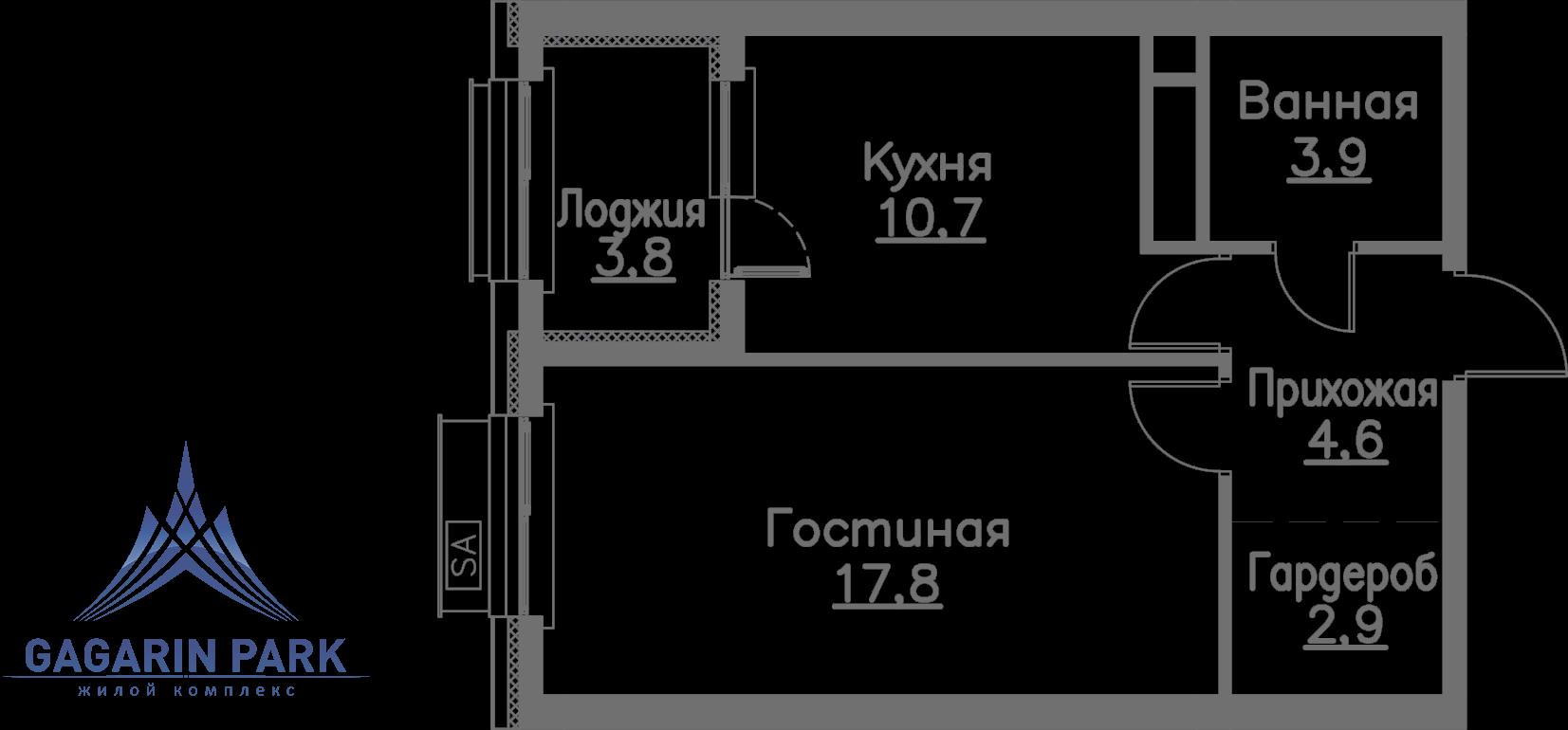 3 очередь, блок A, Квартира 46