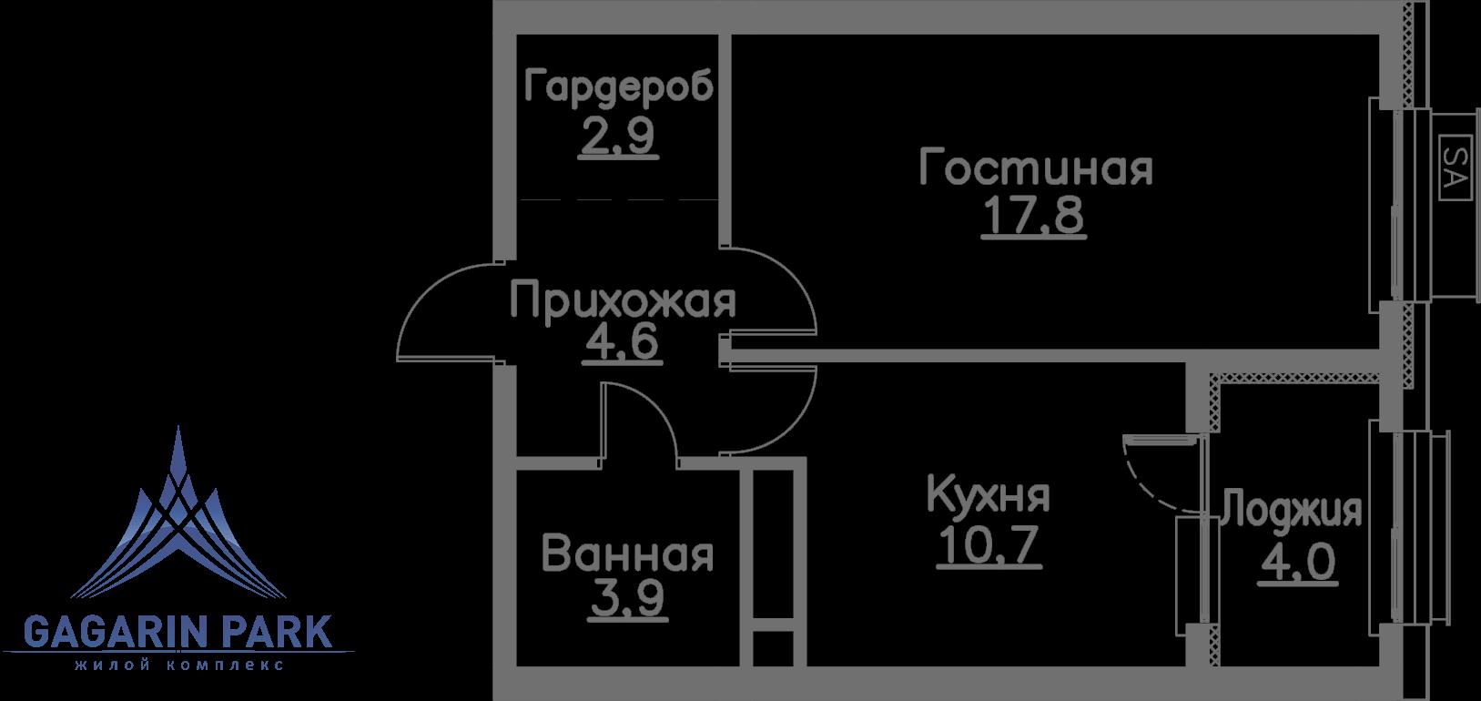 3 очередь, блок A, Квартира 43
