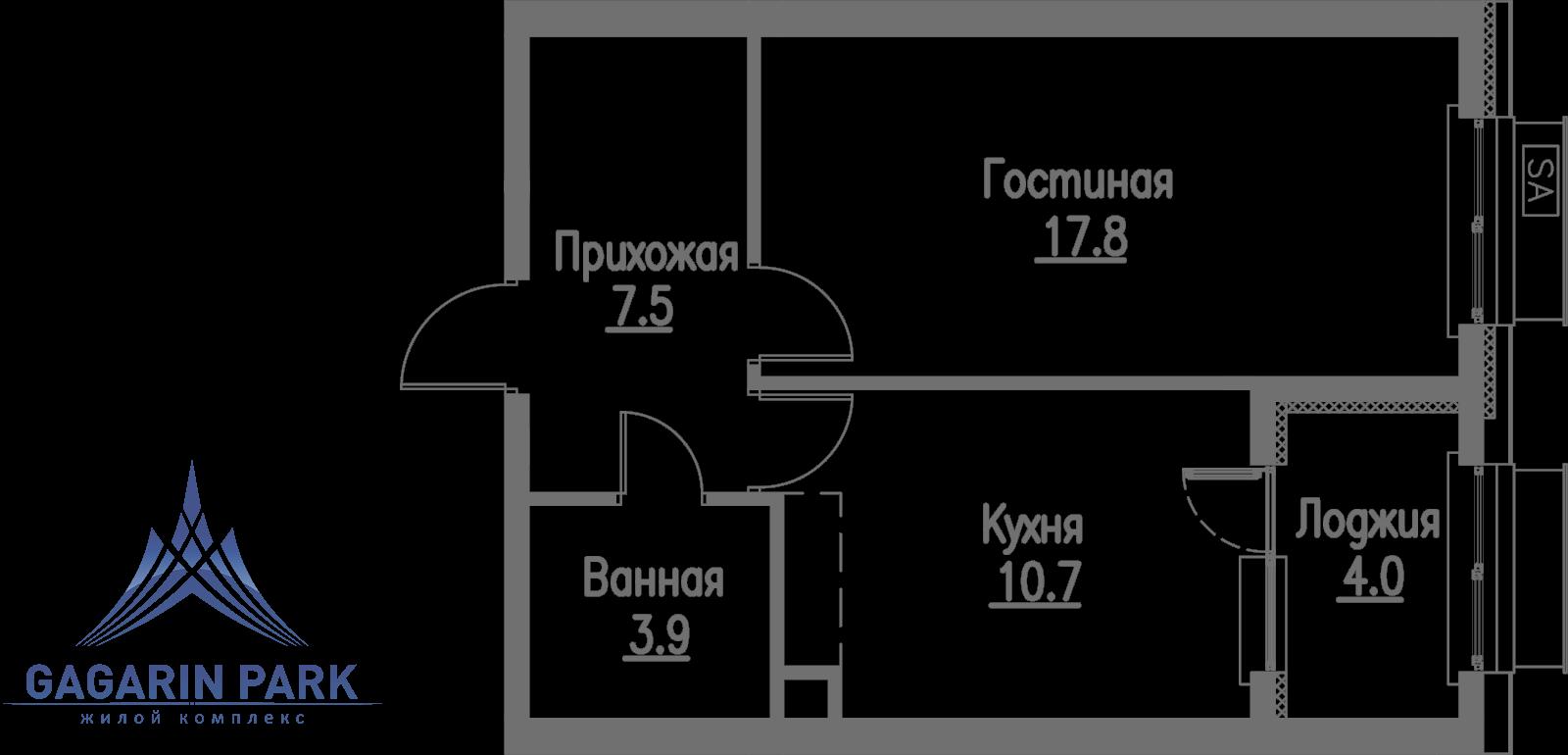 3 очередь, блок B, Квартира 8