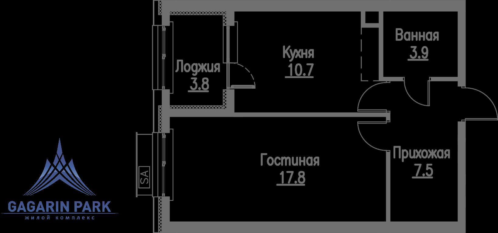 3 очередь, блок B, Квартира 47