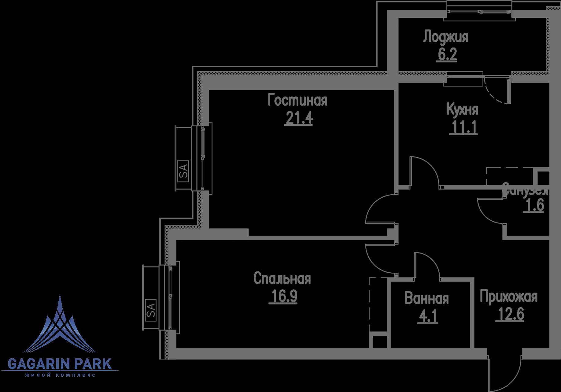 3 очередь, блок C, Квартира 51
